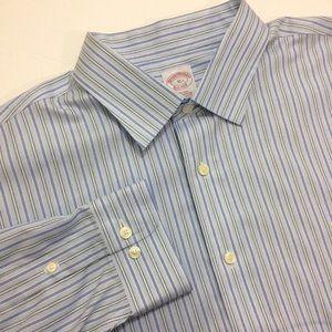 Brooks Brothers Mens Non-Iron Shirt Supima Cotton